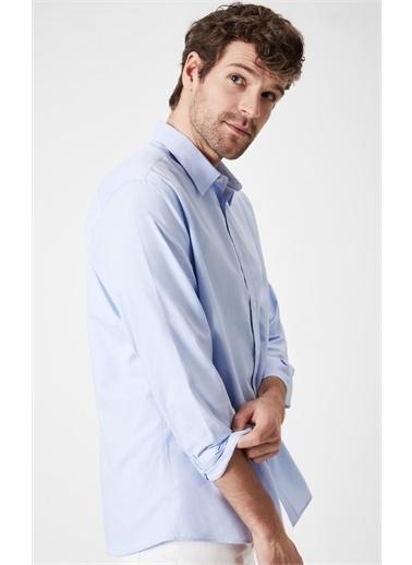 Boris Becker Oxford Uzun Kollu Gömlek Mavi